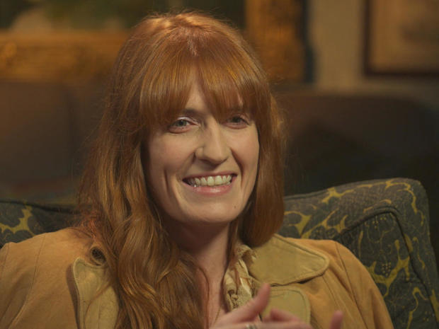 Florence Welch on her own