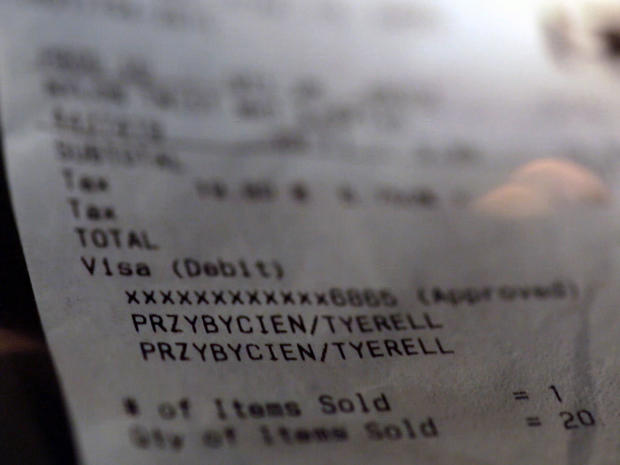 Tyerell Przybycien's receipt for rope