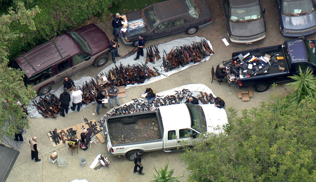 Thousands of Guns Found at Home in Upscale LA Neighborhood