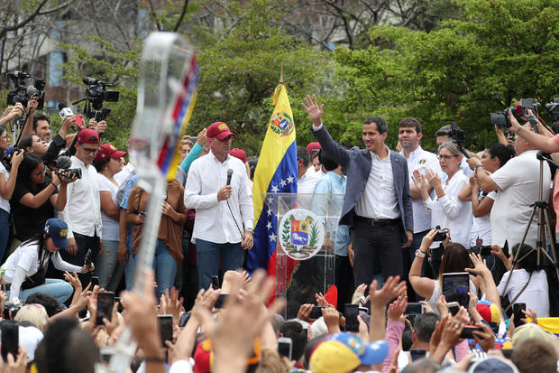 Venezuelan opposition leader Juan Guaido attends a rally in support of the Venezuelan National Assembly and against the government of Venezuela's President Nicolas Maduro in Caracas