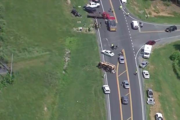 School bus crash: At least 22 injured in North Carolina