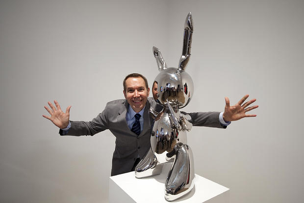 US artist Jeff Koons poses for photograp