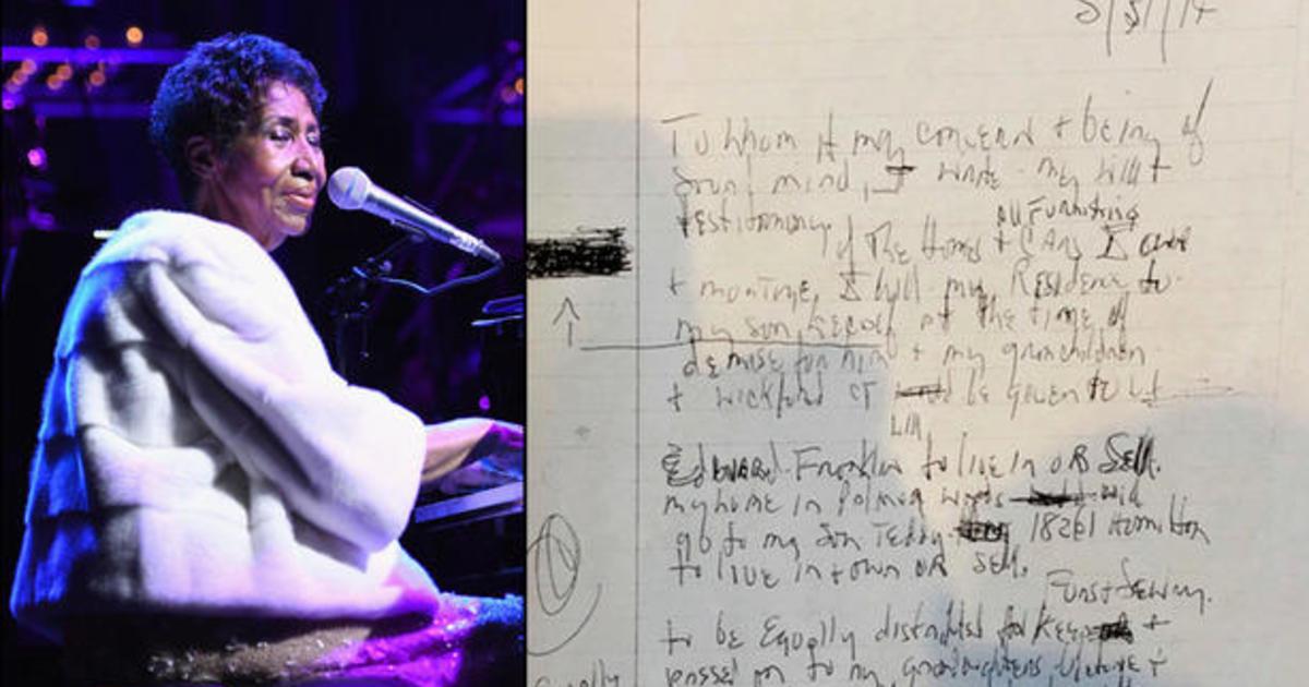 3 of Aretha Franklin's handwritten wills found in her Detroit home