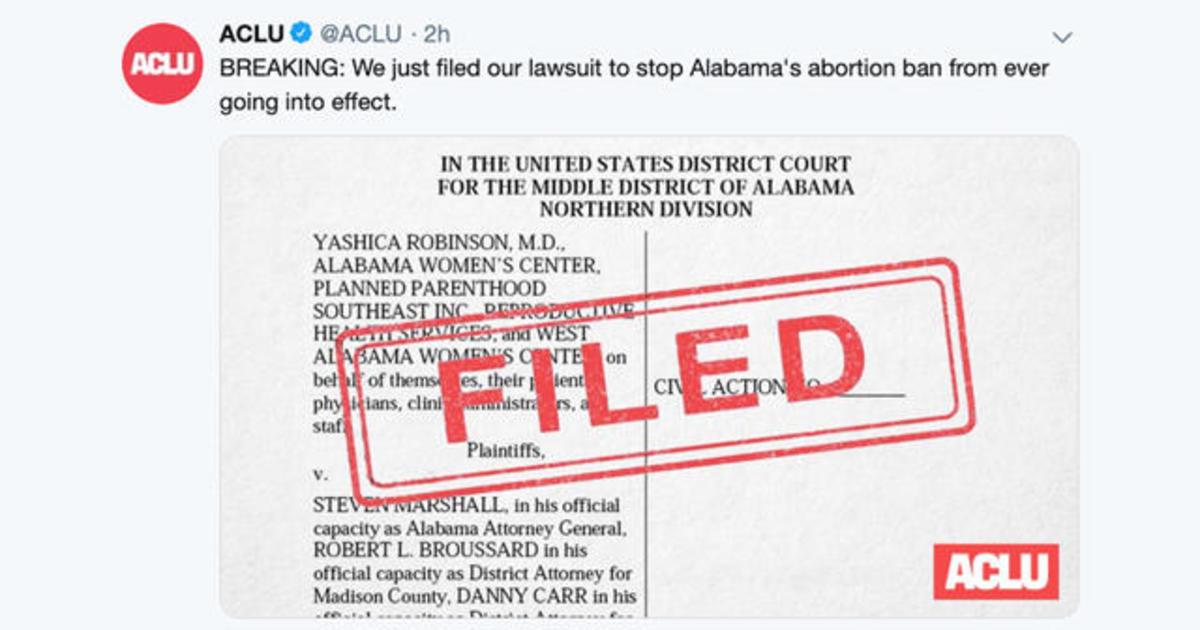ACLU, Planned Parenthood file lawsuit to block Alabama