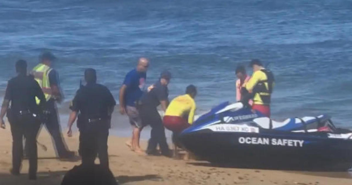 California man dies in apparent shark attack off Maui coast - CBS News