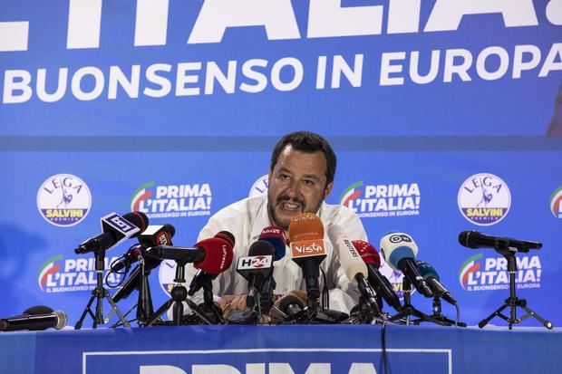 Salvini's Lega Party Holds EU Election Night Event
