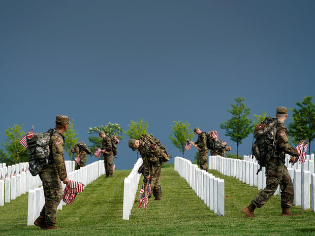 """""""Flags-In"""" at Arlington National Cemetery"""