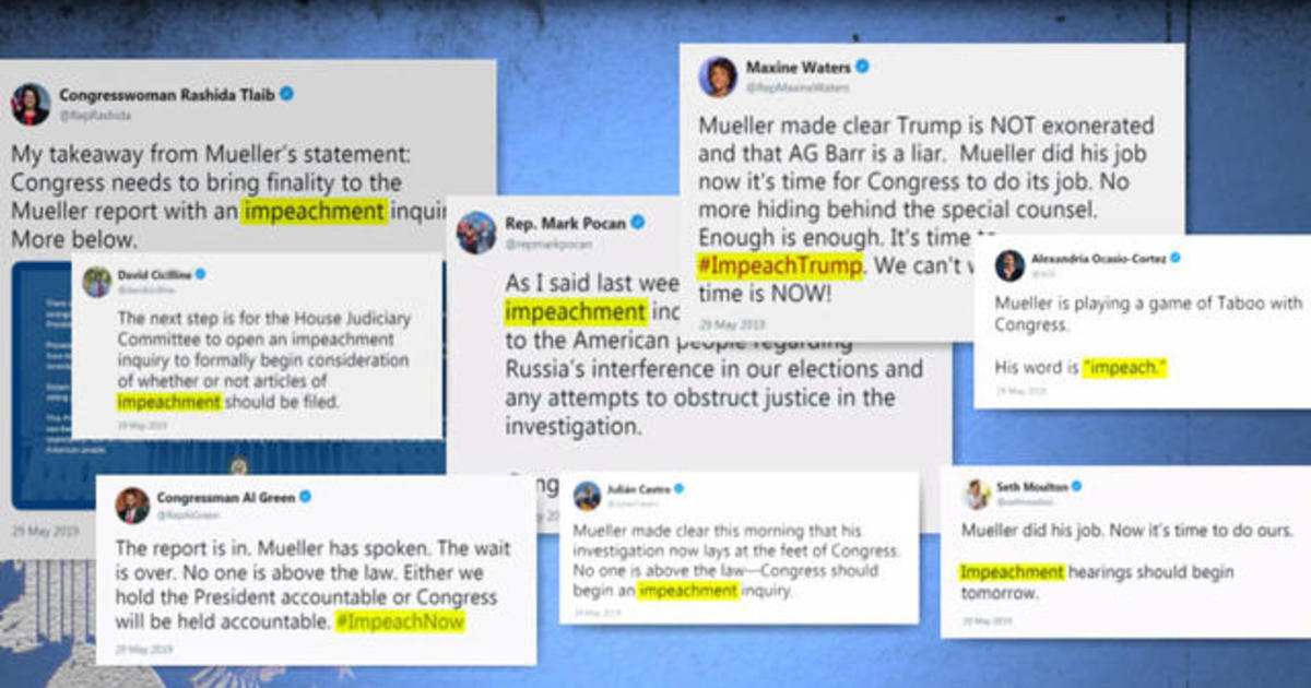 Some Democrats Call For Impeachment After Mueller