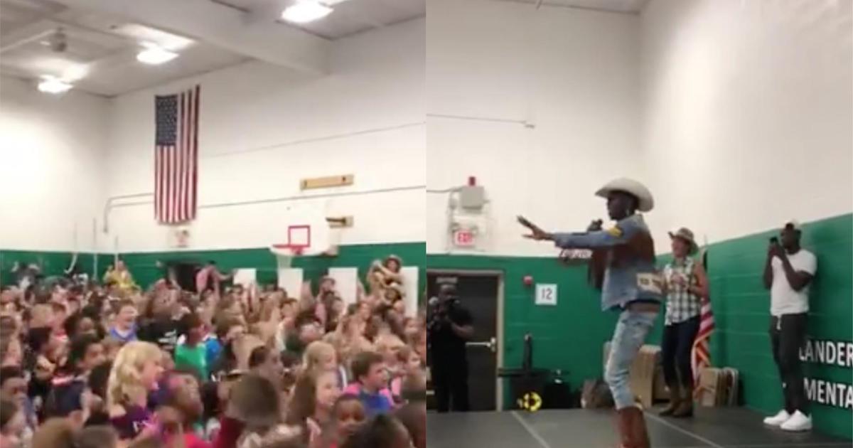 Lil Nas X school surprise: Rapper surprises Ohio 5th graders with
