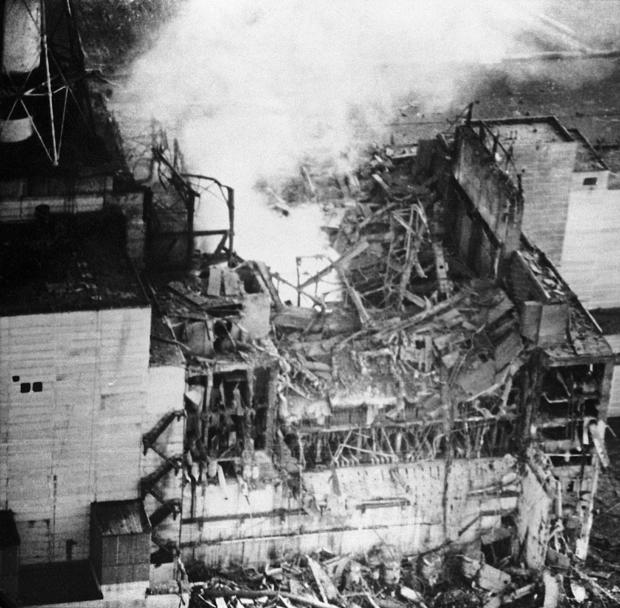 Kiev region, ukrainian ssr, ussr, the chernobyl reactor after the explosion, april 26, 1986.