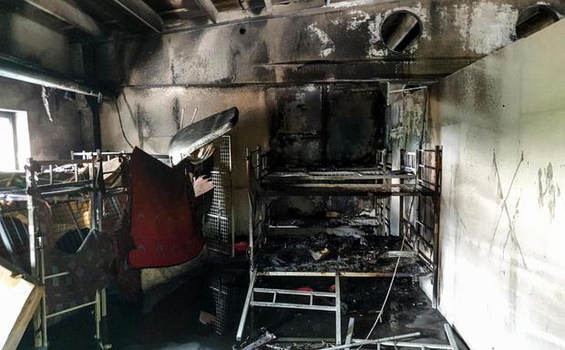 BOSNIA-FIRE-MIGRANTS