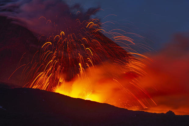 Italy's Mount Etna Volcano Spews Lava in New Active Phase