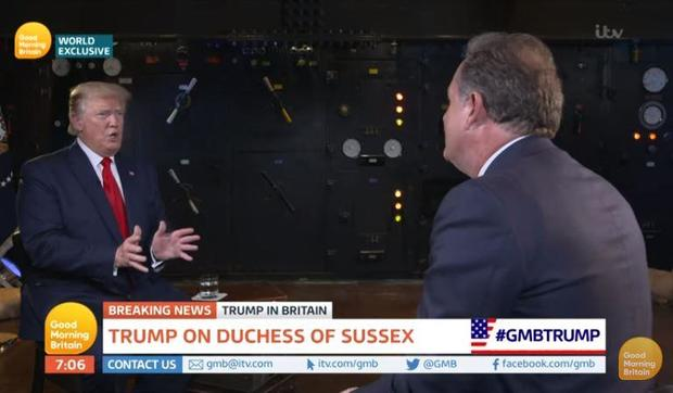 Piers Morgan boasts Donald Trump got up especially to watch 'GMB'