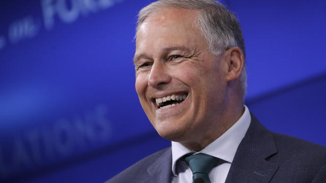 Presidential Candidate Jay Inslee Delivers Climate Change Speech In New York City