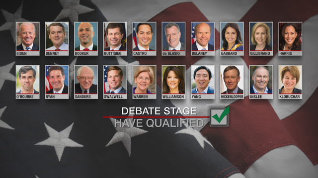 DNC presidential primary debate - who qualified