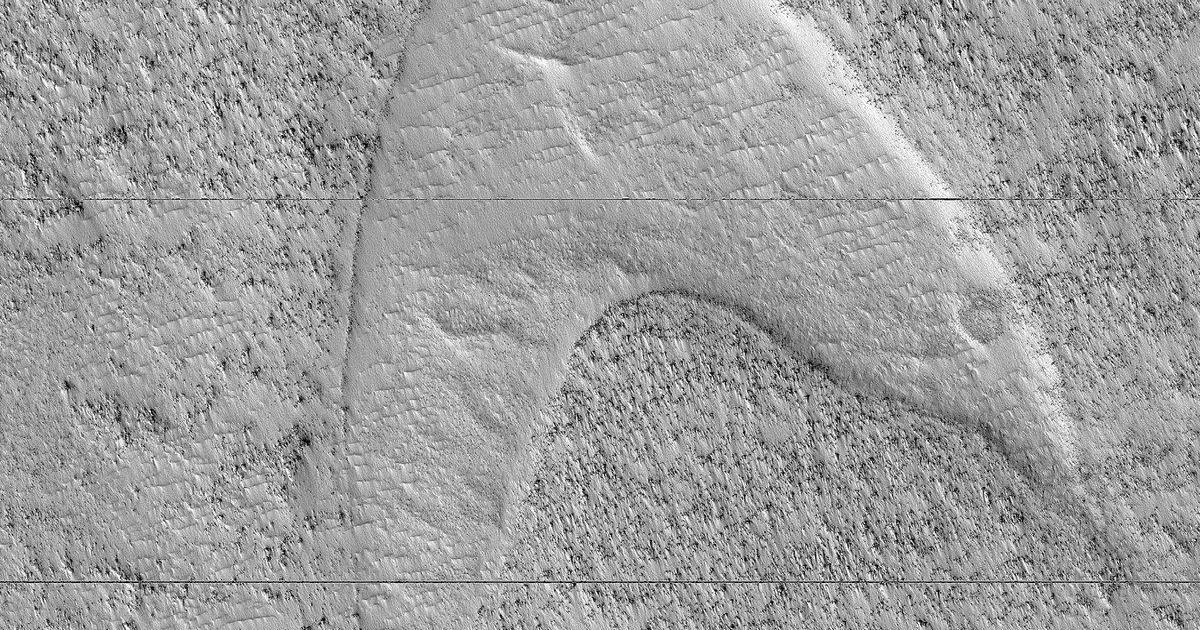 Star Trek on Mars: NASA spots