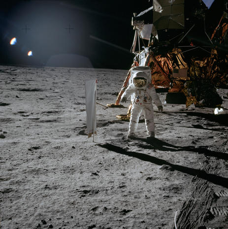 50 photos taken on the moon