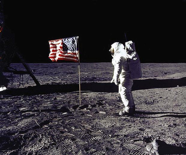 This 20 July 1969 file photo released by NASA show
