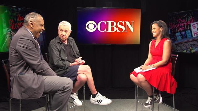 """CBSN Stonewall 50th anniversary interview with Martin Boyce and Charles """"Val"""" Harris"""