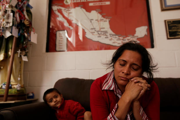 Honduran migrant Delmy Garcia, who is waiting for her court hearing for asylum seekers that returned to Mexico to await their legal proceedings under a new policy established by the U.S. government, is seen at a migrant shelter in Ciudad Juarez