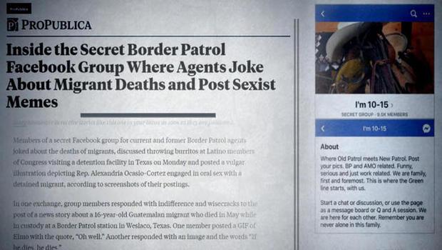 CBP agents allegedly mocked migrant deaths in secret Facebook group