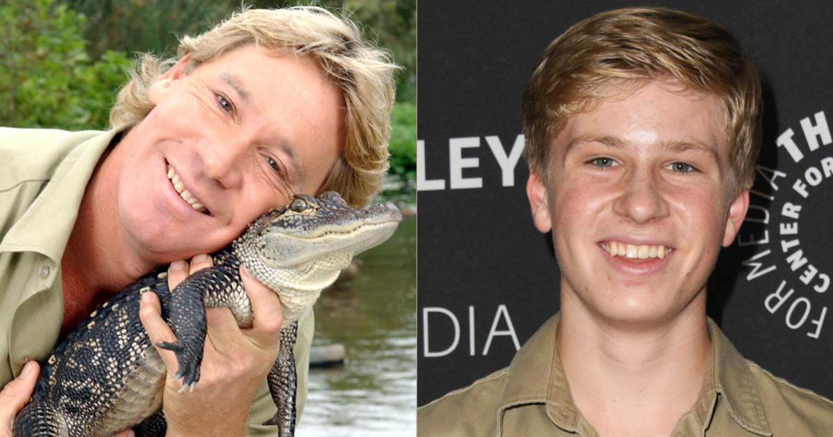 Steve Irwin Son Steve Irwin S Son Shares Heartwarming Photo Feeding The Same Crocodile As His Dad 15 Years Apart Cbs News