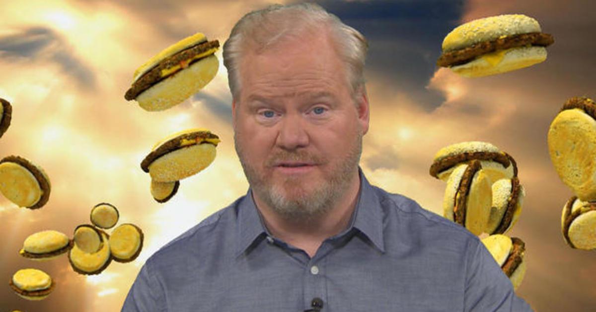 """Jim Gaffigan says cheeseburgers are in """"grave danger"""""""