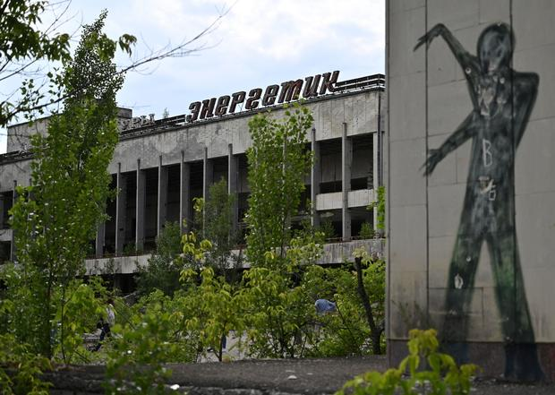 UKRAINE-CHERNOBYL-NUCLEAR-TELEVISION-TOURISM