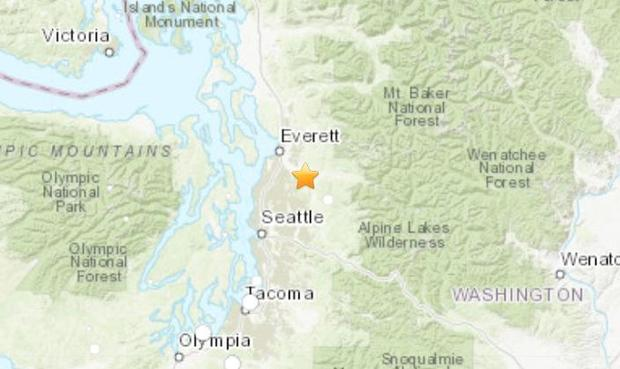 Seattle earthquake: Quake rattles Washington state today ... on tulsa oklahoma map, oregon map, austin texas map, mount rainier map, world map, seattle neighborhood map, washington state map, spanaway washington map, puget sound washington map, usa map, lynnwood washington map, united states map, downtown seattle map, st. louis map, seattle wa, georgetown seattle map, seattle city limits map, sequim washington map, city of seattle boundary map,