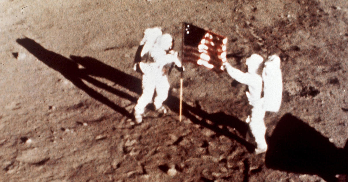 Moon landing anniversary: Watch live stream of the most iconic moments from CBS News' Apollo 11 moon landing coverage