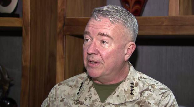 CBS News travels with top U S  military commander in the