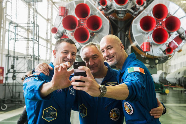 American, Italian, Russian blast off for ISS
