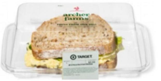 Some sandwiches, salads sold at Target under recall