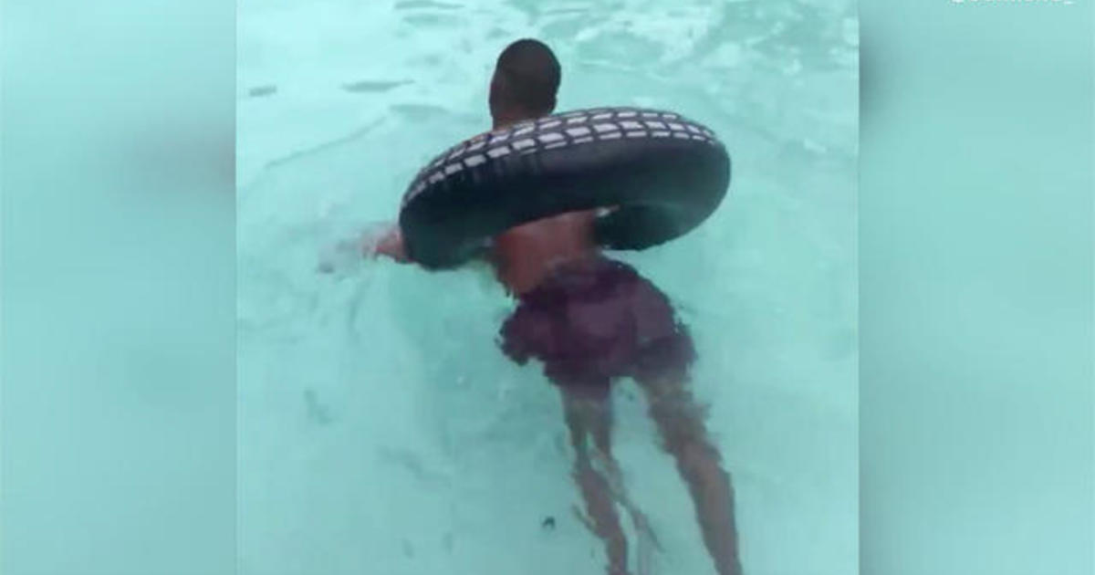 Man with cerebral palsy faces fear and swims for the first time