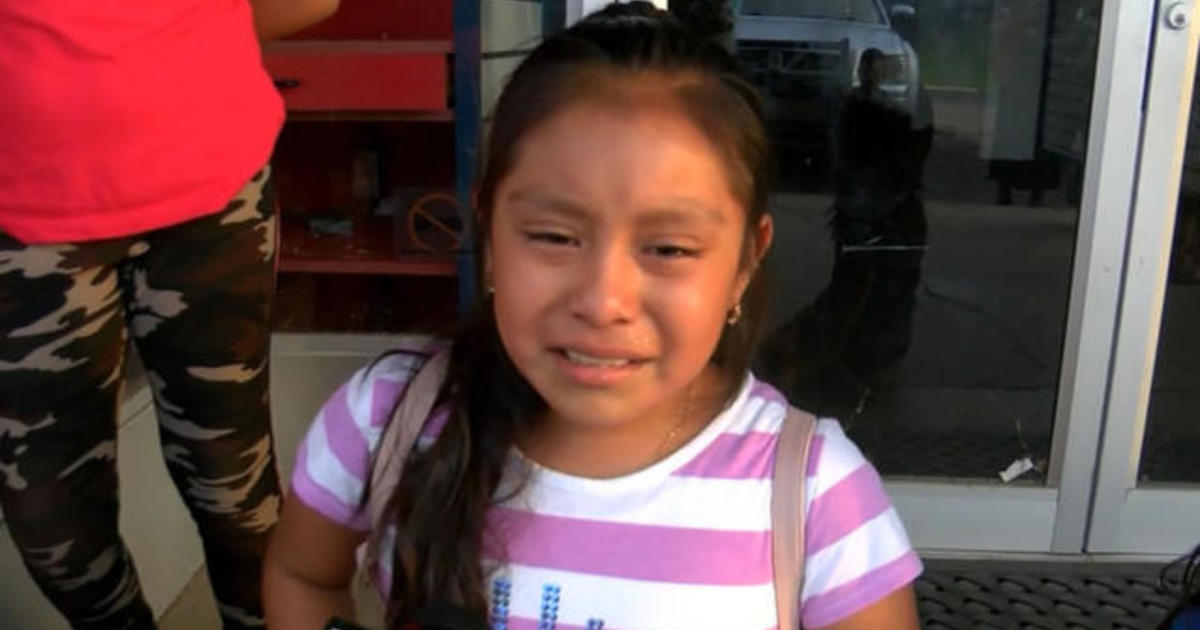 11-year-old girl tearfully pleads for dad's release after massive ICE raid