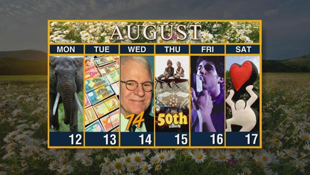 Calendar: Week of August 12