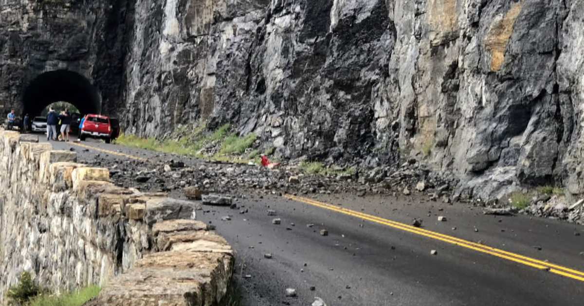 Teen girl killed when rockslide hits family's car