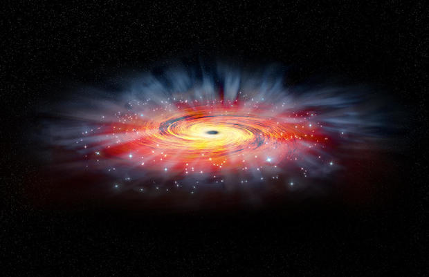 The supermassive black hole located 26,000 light years from Earth in the center of the Milky Way.