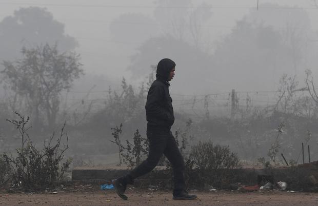 INDIA-ENVIRONMENT-POLLUTION-FOG