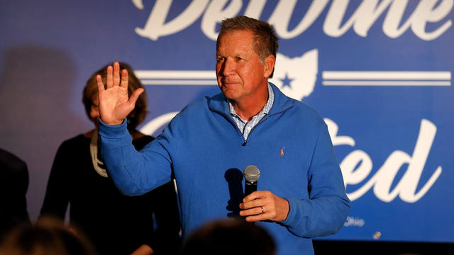 Gov. Kasich Campaigns With Ohio Gubernatorial Candidate Mike DeWine In Columbus