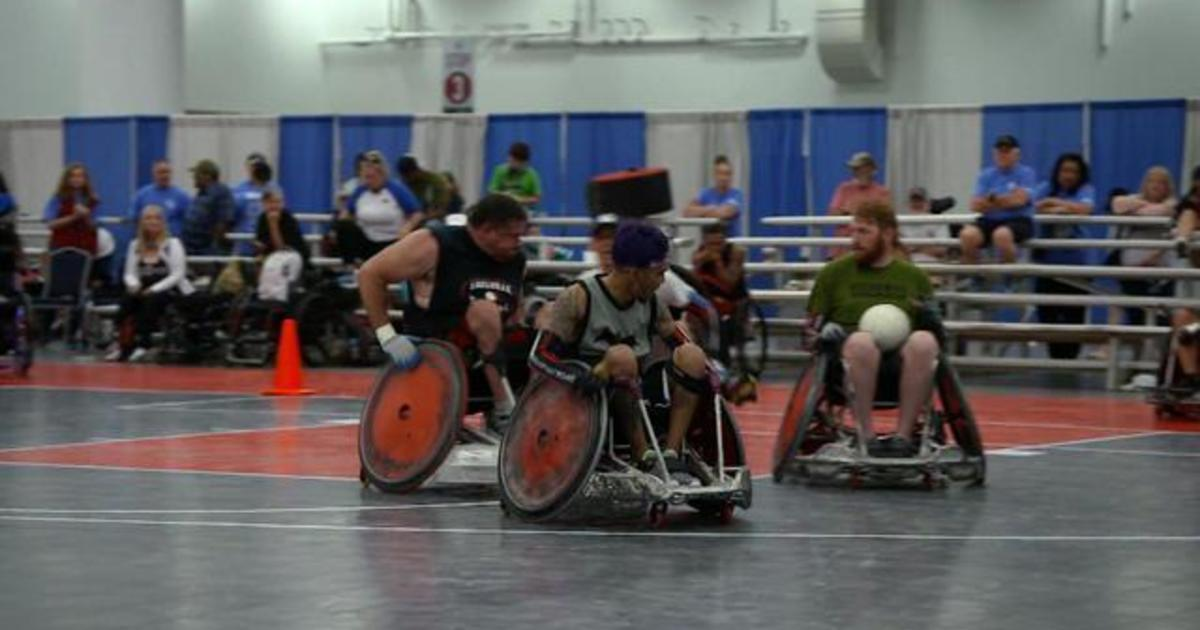 """Wounded veterans find solace in wheelchair rugby: """"It becomes the brotherhood"""""""