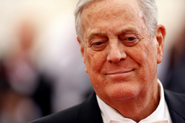 "Businessman David Koch arrives at the Metropolitan Museum of Art Costume Institute Gala Benefit celebrating the opening of ""Charles James: Beyond Fashion"" in New York May 5, 2014."