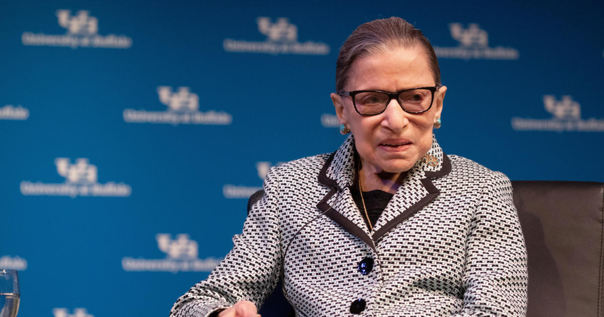 """Justice Ruth Bader Ginsburg reports she's """"very well"""" following cancer treatment"""