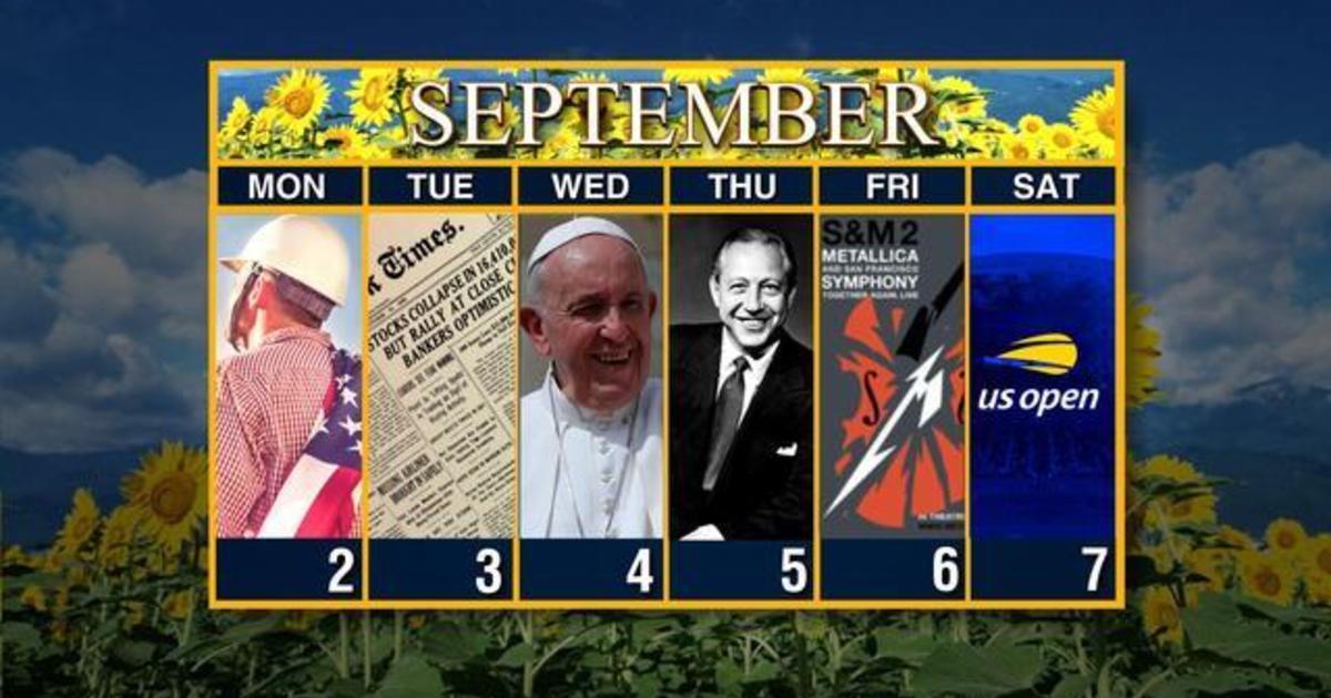 Calendar: Week of September 2