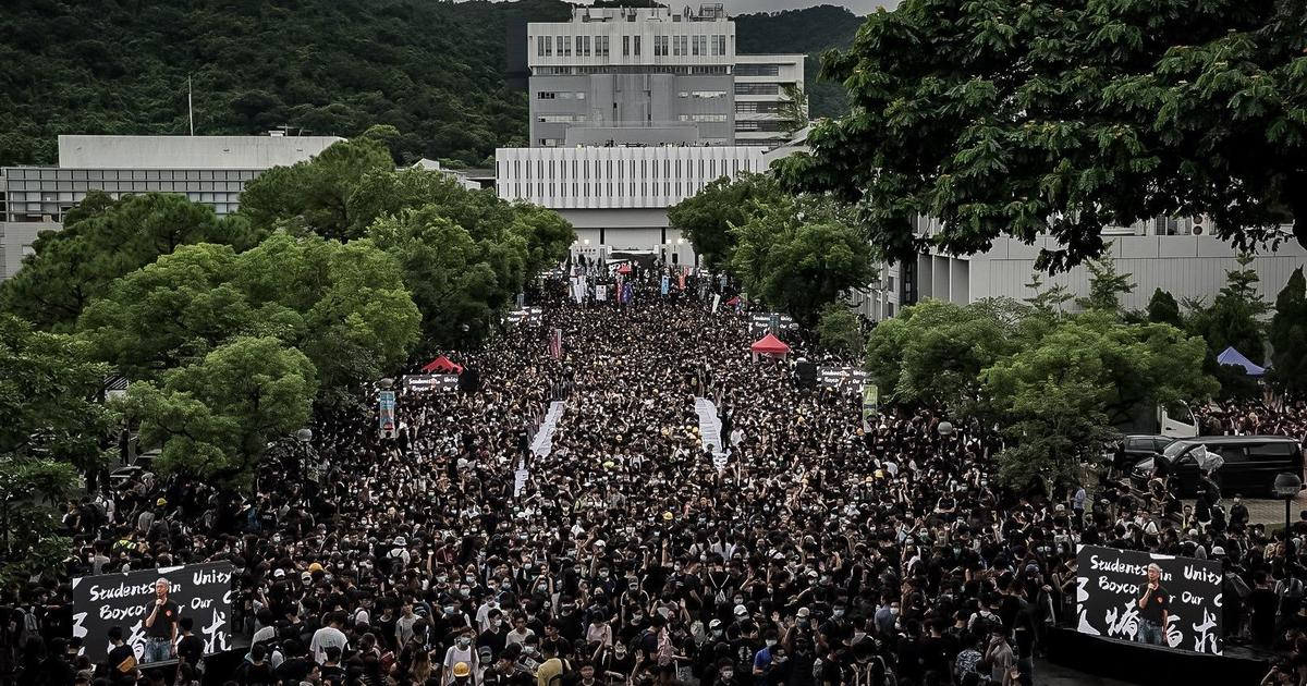 """As Hong Kong protests grind on, China warns """"the end is coming"""""""