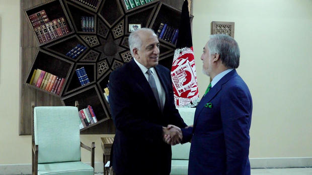 U.S. special envoy shares peace deal draft with Afghan president-officials in Kabul