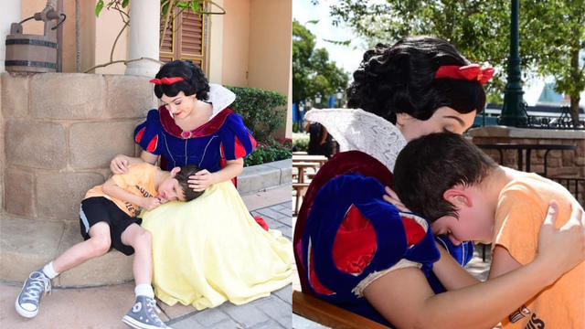 Snow White comforts boy with autism who had