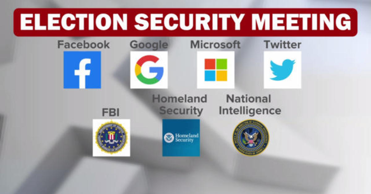 Tech giants meet with government agencies to talk 2020 election security