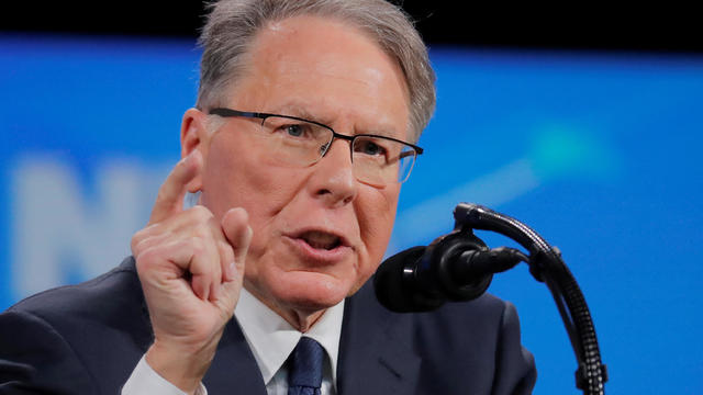 NRA executive vice president and CEO LaPierre speaks at the NRA annual meeting in Indianapolis