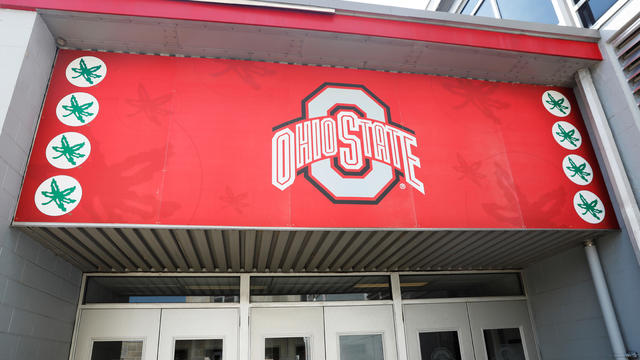 The exterior of a building on The Ohio State University campus is seen in Columbus, Ohio